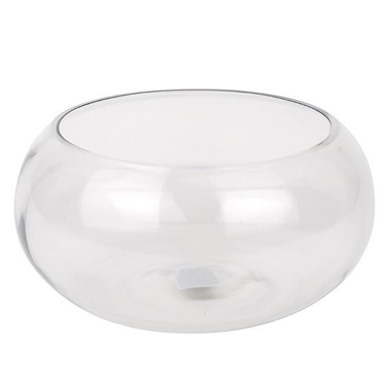 üveg tál